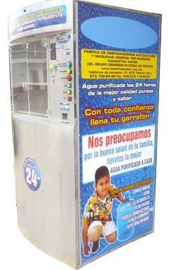 Máquina Vending Purificadora y Expendedora de agua