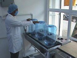 lavado de garrafones de agua purificada