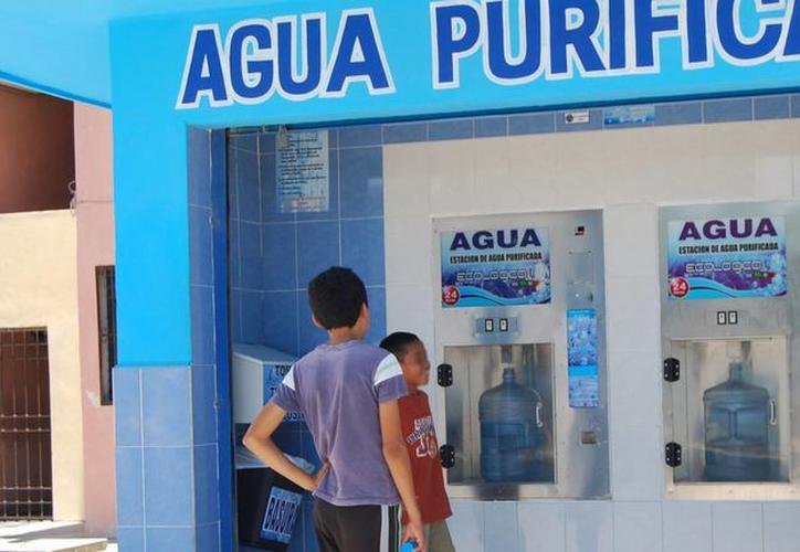 purificadora de agua de monedas