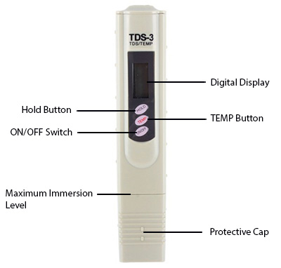 medidor digital de TDS