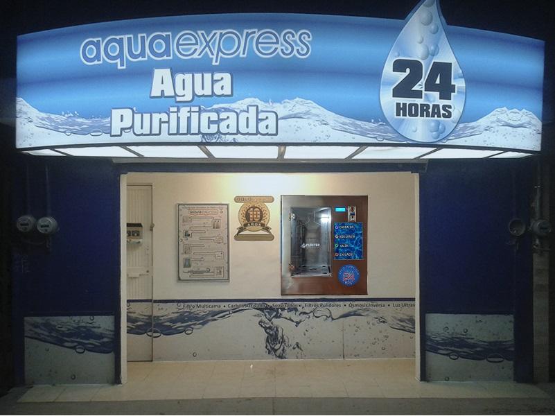 purificadora de agua automática 24 horas