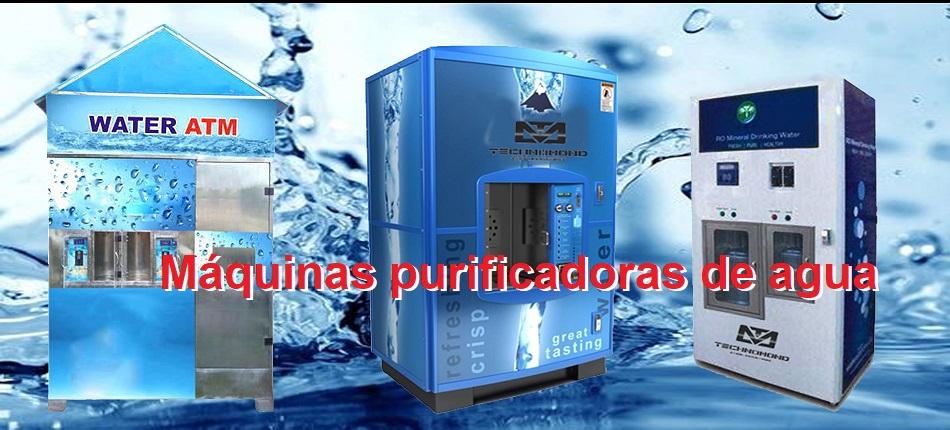 máquinas purificadoras de agua