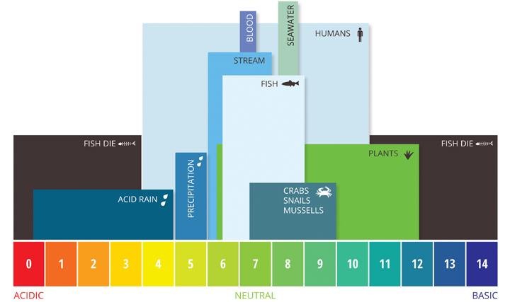Niveles de pH acuáticos